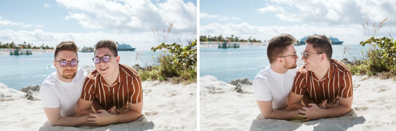 Disney Castaway Key Engagement Session, Disney Castaway Key Family Portraits, Disney Castaway Key Wedding, Disney Wonder Bahamas Destination Wedding, disney cruise wedding gallery, Castaway Key Photos