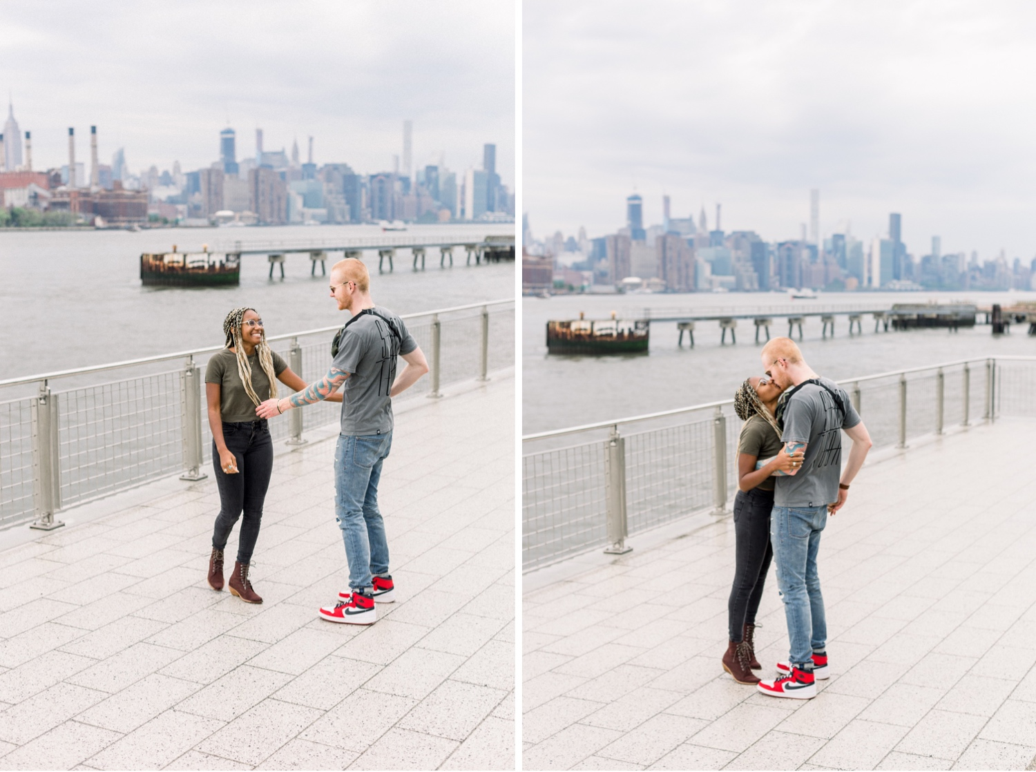 Williamsburg Wedding Photographer, Natura Collective, Interracial Couples Session, Interracial Relationships, Interracial Engagement Session, Inclusive Wedding Photographers, LGBT Wedding Photographer, Brooklyn Gay Wedding Photographer, Williamsburg Couples Session