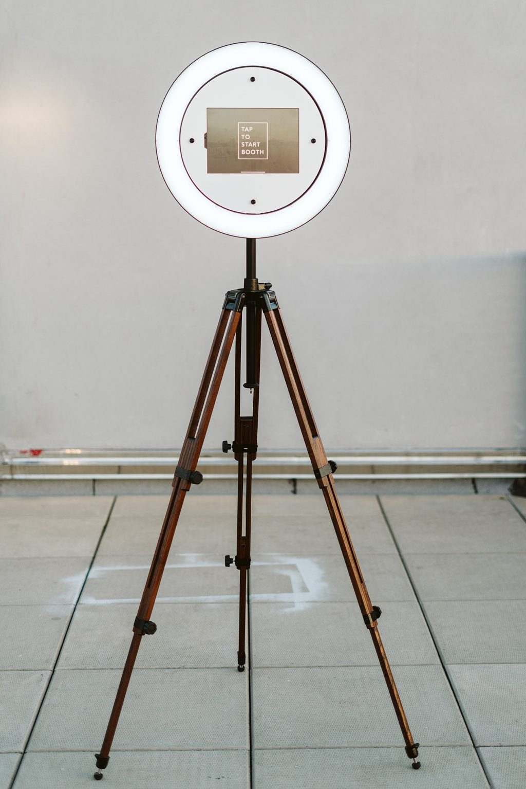 Vintage Brown Wooden Tripod stand and Selfie Booth