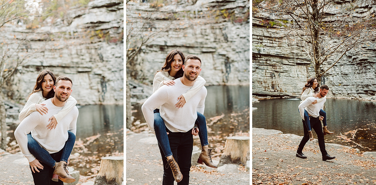 Awosting Falls Engagement Session, Awosting Falls Engagement Photos, Awosting Falls couple photos