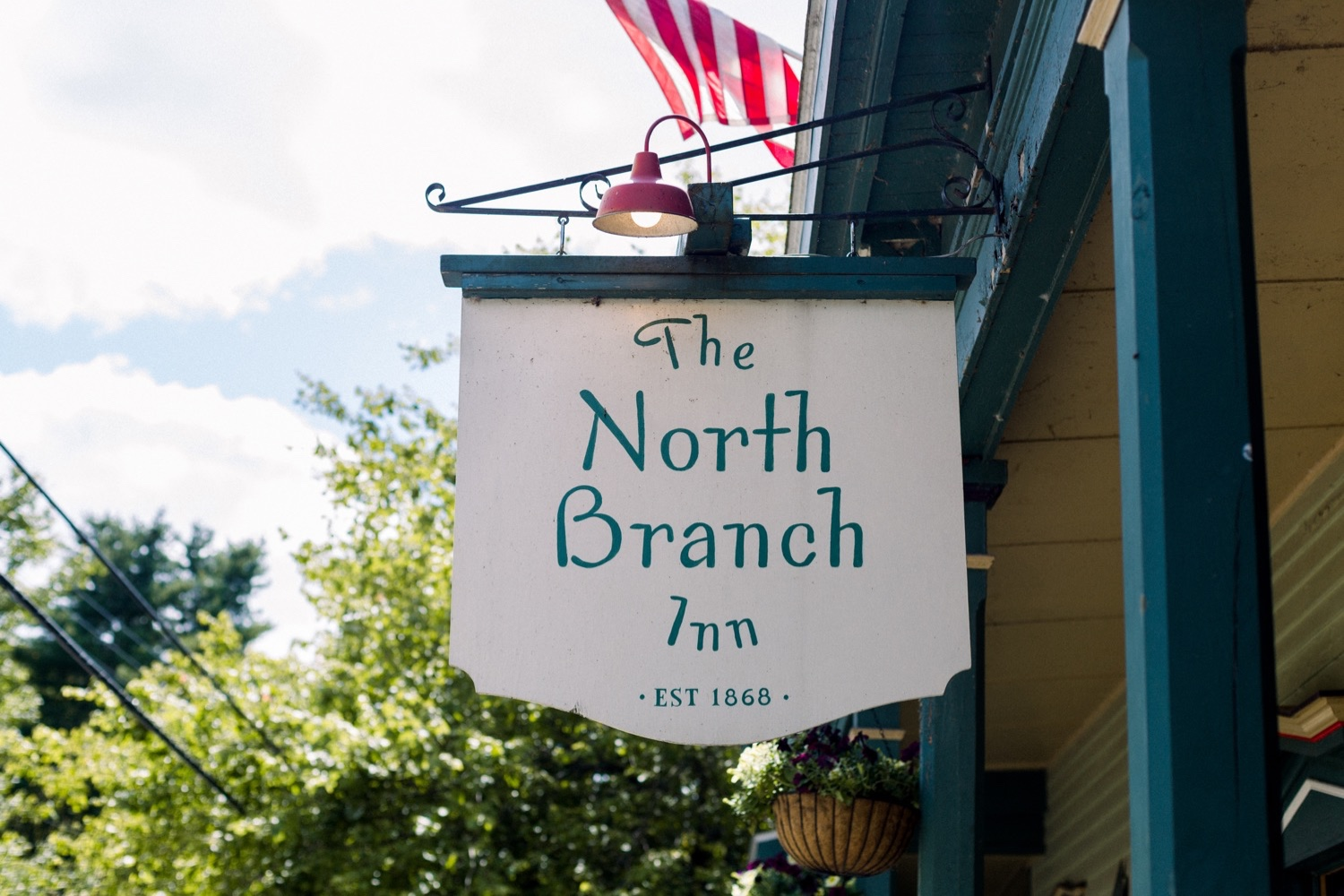 The North Branch Inn Wedding Venue in the Catskills, welcome sign at entrance