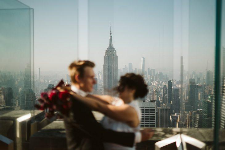 Top of the rock elopement, nyc elopement photographer