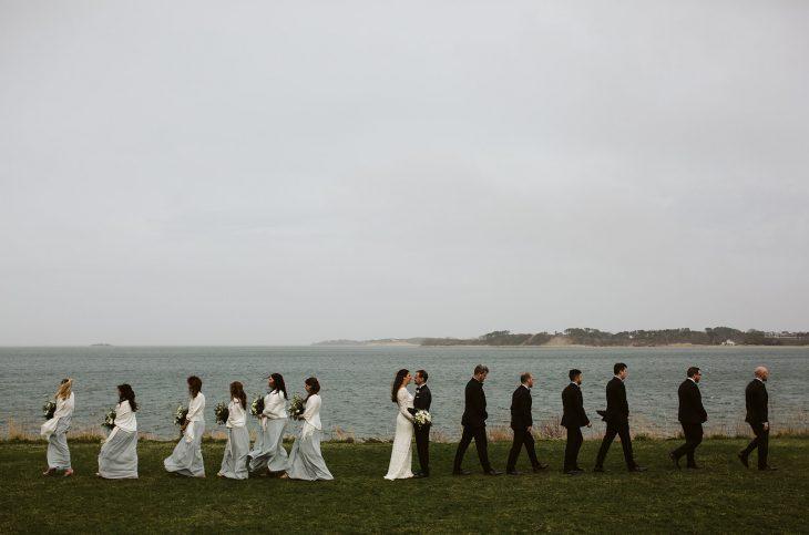 Cape Cod Wedding Videographer, The Wequassett Resort Cape Cod Wedding Video. Wedding party and the bride and groom at Wequassett Resort.