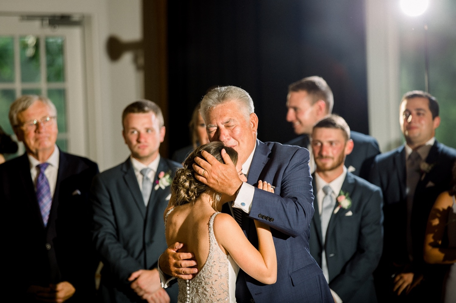 Father Daughter First Dance during Wedding Reception