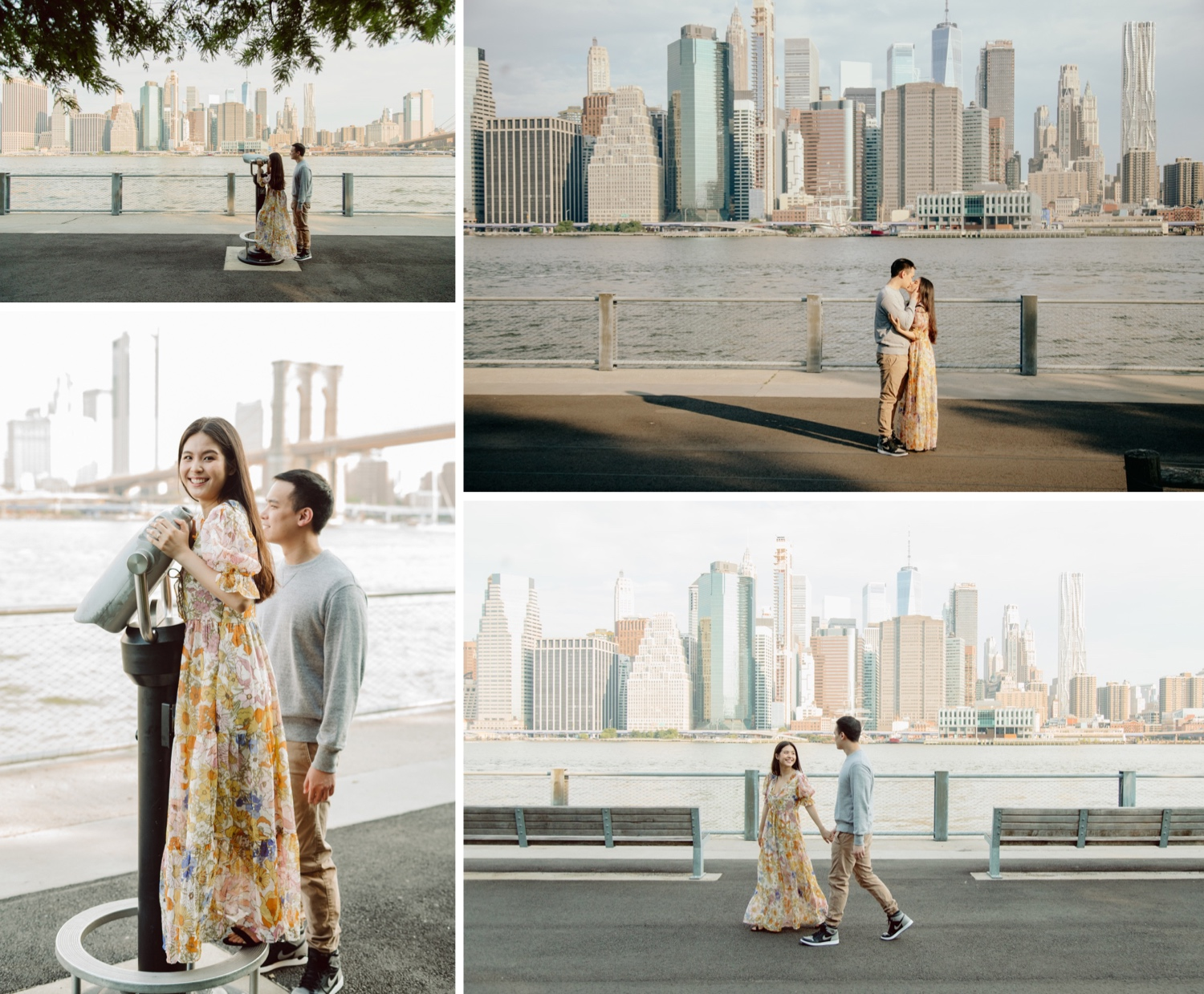 Brooklyn Bridge Park Engagement Session, Brooklyn Engagement Session, Brooklyn Pier 1 Engagement Session, 1HOTEL Engagement Session, Brooklyn Bridge Promenade Engagement Session, Brooklyn Engagement Photographers, NYC Engagement Sessions, Outdoor Engagement Spots in NYC, NYC Engagement Session Inspiration, Spring Engagement Session, Summer Engagement Session, NYC Summer Engagement Session