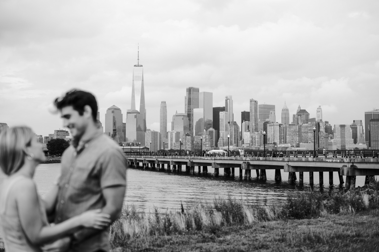NYC City Skyline From Liberty State Park, Engagement sessions with the best view of new york city, New York City Engagement Photographer, New York City Engagement Session