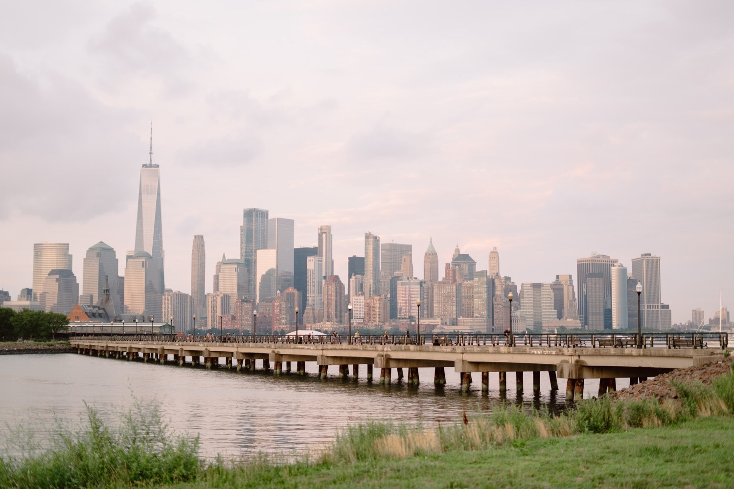NYC skyline view from Liberty State Park Jersey City, Liberty State Park Views, Liberty State Park Pier, Liberty State PArk Engagement SEssion, Liberty State Park Jersey City Engagement Session, Liberty State Park Engagement Photos, Liberty State Park Engagement Photographer