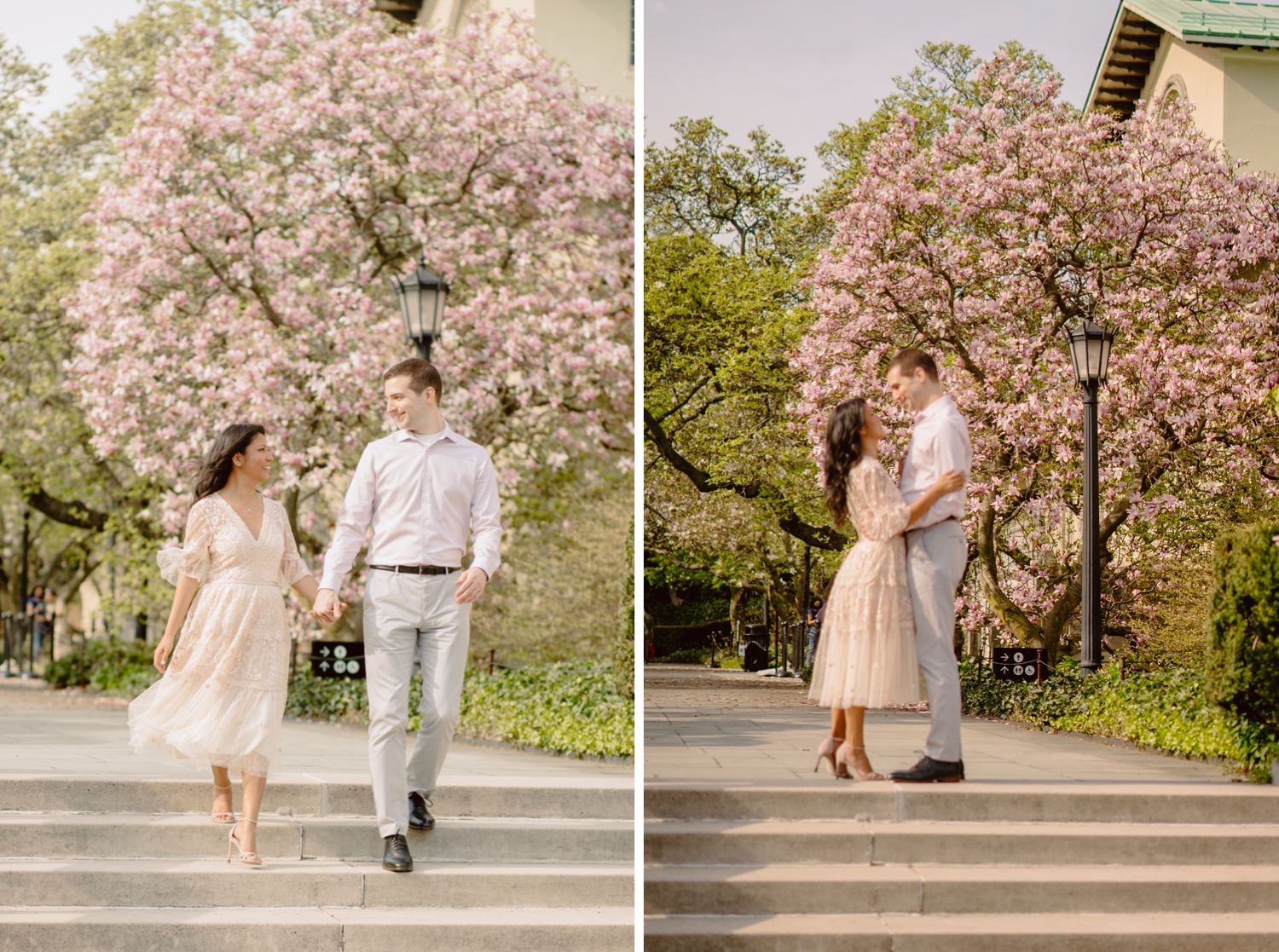Spring Engagement Session in NYC, NYC Engagement Session in Spring, Best Spots for a spring nyc engagement session